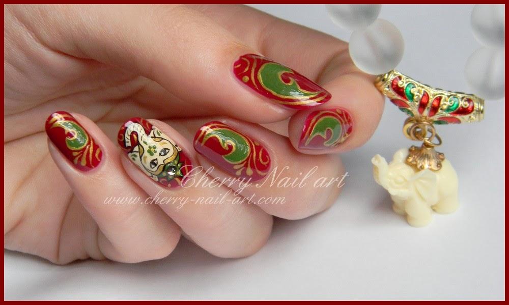 nail art ganesha elephant indien