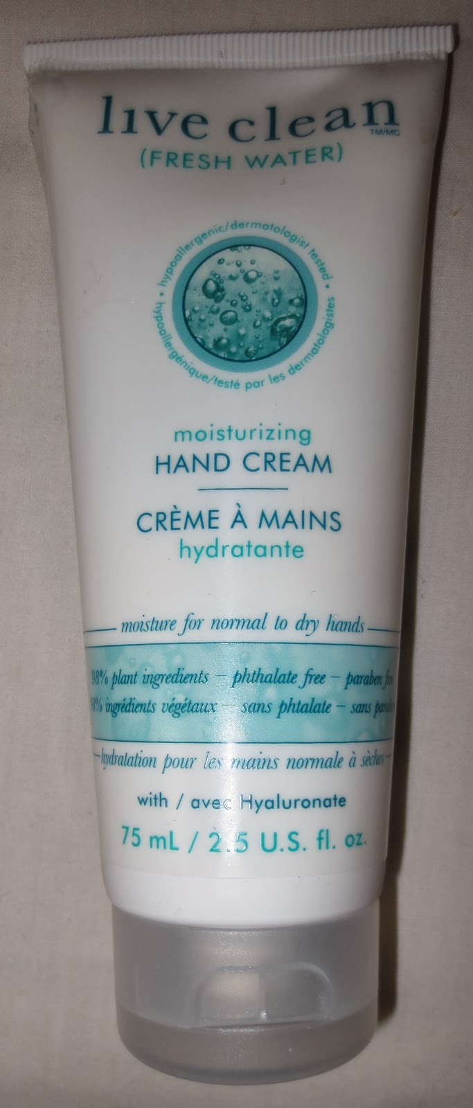 Live Clean Moisturizing Hand Cream