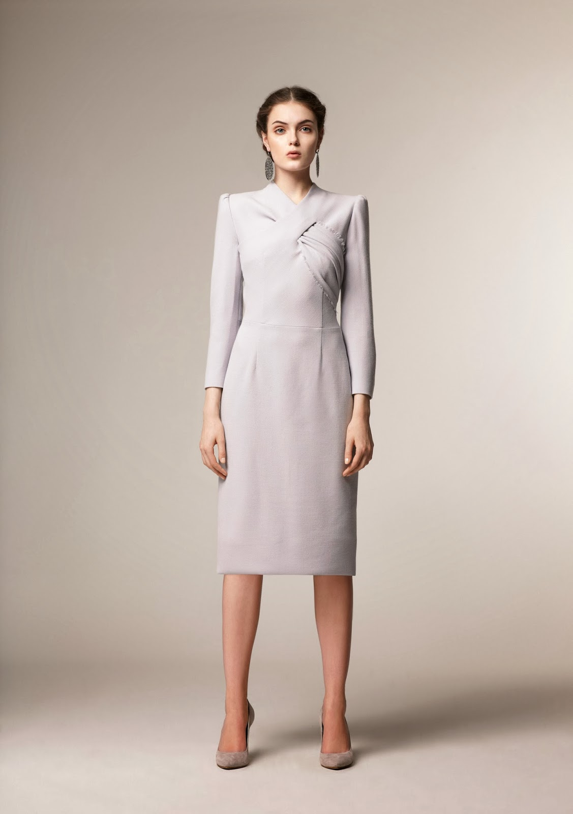 Modest midi dress with sleeves Modest pencil skirt