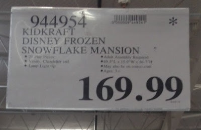 Deal for the KidKraft Disney Frozen Snowflake Mansion at Costco