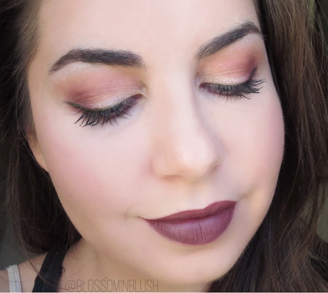 a picture of Burgundy Grunge Fall Makeup Look (ColourPop & Too Faced Star Dust Vegas Nay)