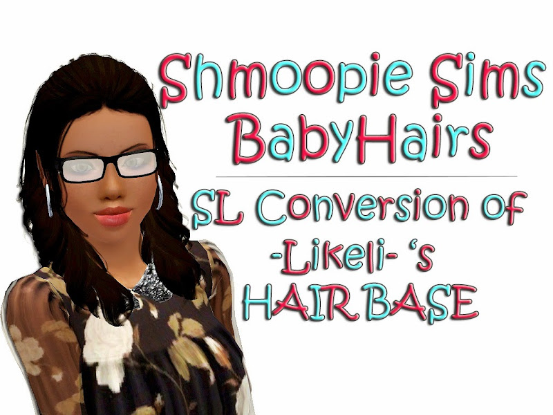 shmoopiesims baby hairs hairline for females title=