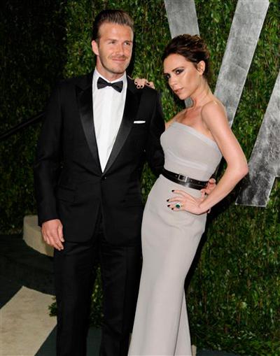 David e Victoria Beckham Oscar 2012