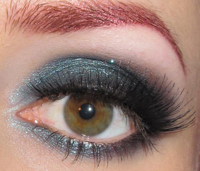Glitter Is My Crack Dark Smokey Teal Eye Makeup Look
