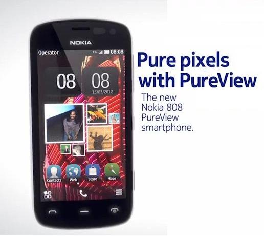 Nokia 808 Purview Smartphone pixels