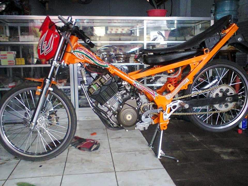Modif Motor Drag Satria FU