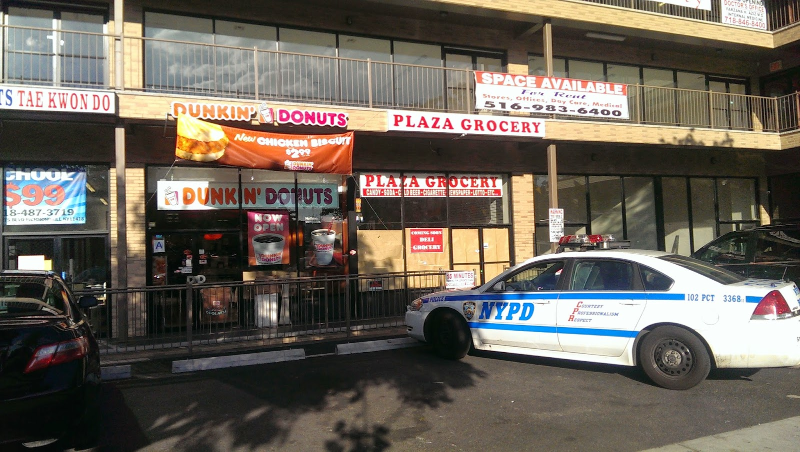 NYPD Eating Donuts at Dunkin Donuts