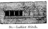 Embroidery Ladder Stitch