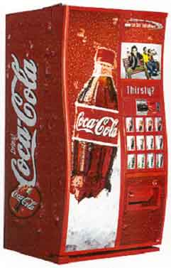 how much does a coca cola vending machine cost