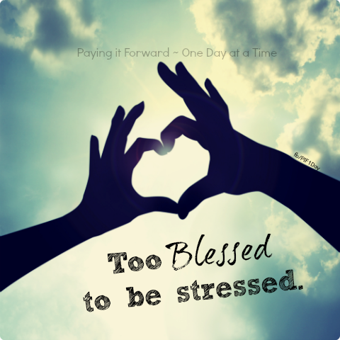 inspirational picture quotes too blessed to be stressed