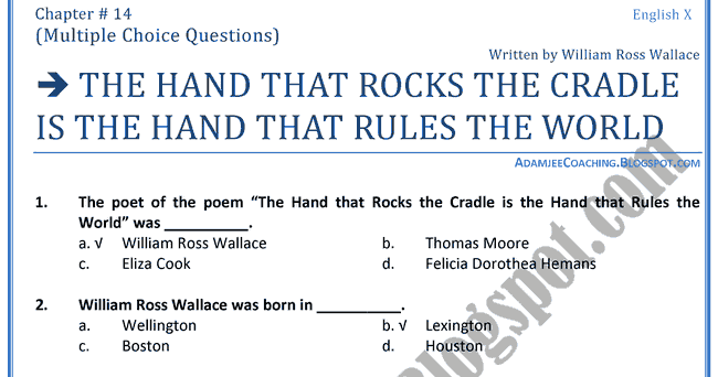 essay on the hand that rocks the cradle rules the world Check out our top free essays on the hand that rocks the cradle rules the world to help you write your own essay.