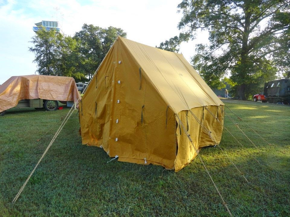 1917 US Small Wall Tent $1600. Wooden Pole and Stake Kit $275. Splice Kit for 3 poles $150. Tent Fly $500 & Armbruster Manufacturing Co. | World War One Tent Pricing