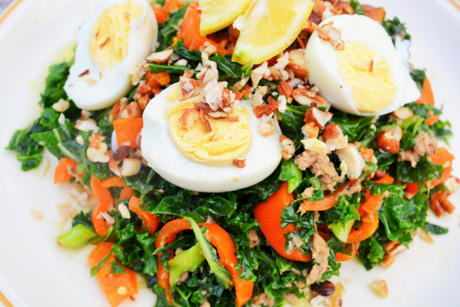 http://thoughtsofabumblemind.blogspot.co.uk/2014/06/cookbook-raw-kale-and-tuna-summer-salad.html