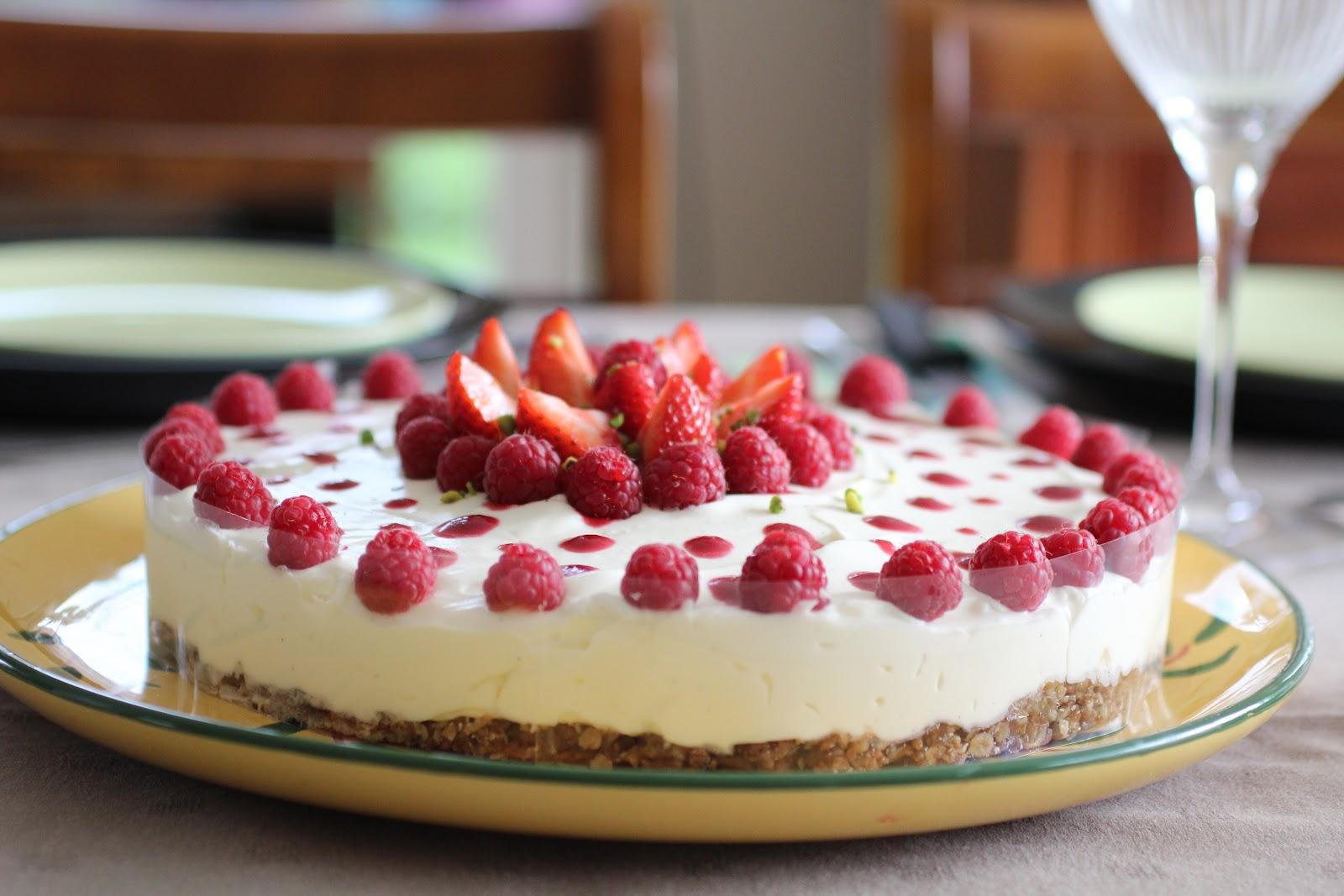 Happy tong cheesecake sans cuisson de jamie - Cheesecake framboise sans cuisson ...