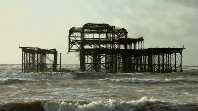 West Pier Brighton damaged by storm