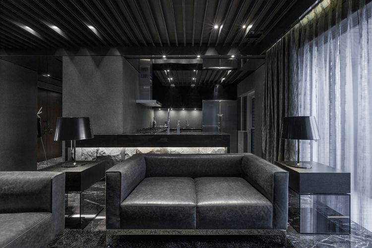 all-black apartment in taiwanatelierii | home img
