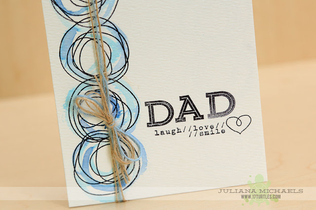 Dad Father's Day Card by Juliana Michaels featuring MFT Stamps, Elle's Studio Stamps and Distress Ink Watercoloring