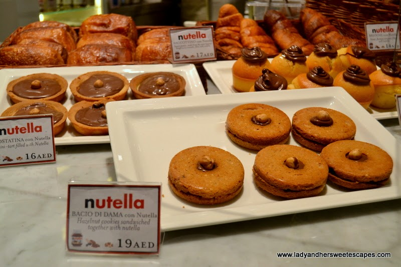 baked goodies at the Nutella Bar in Eataly Dubai