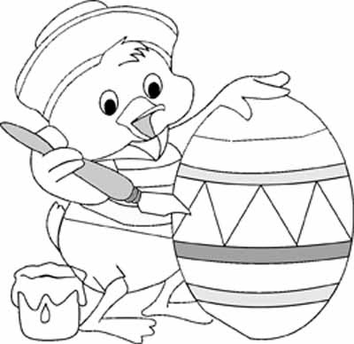 Cute Easter Coloring Pages
