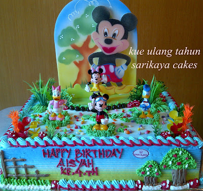 sarikaya cakes: KUE ULANG TAHUN MICKEY UKURAN 30X40 CM BY SARIKAYA ...