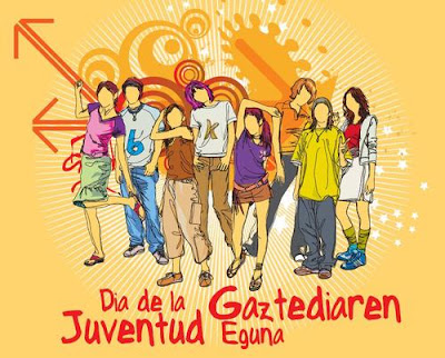 Dibujo por el Día de la Juventud (Jóvenes (hombres y mujeres) sin rostro)