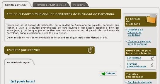 Qu se necesita para empadronarse - Oficinas empadronamiento barcelona ...