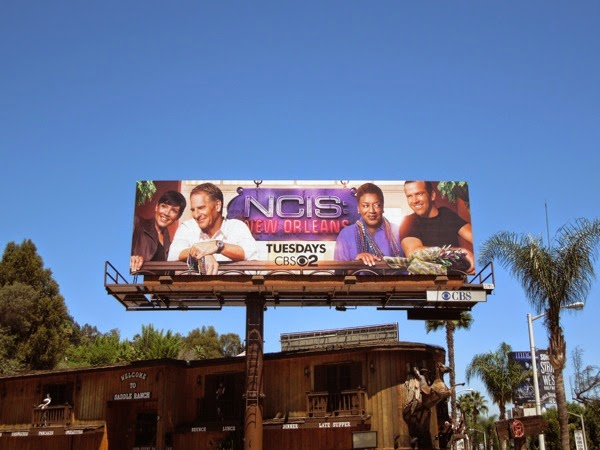 NCIS: New Orleans series launch billboard