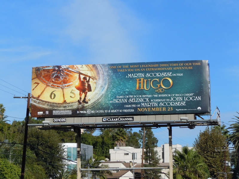 Hugo movie billboard