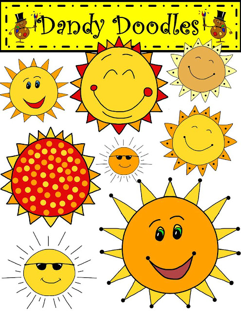 First Grade Bloomabilities: Sunny Days! (Free Clip Art Set!)