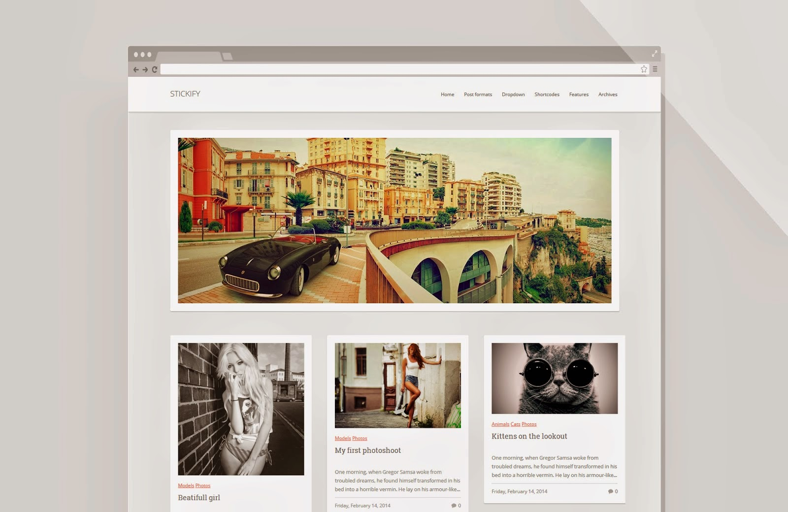 Stickify Responsive Blogger Template