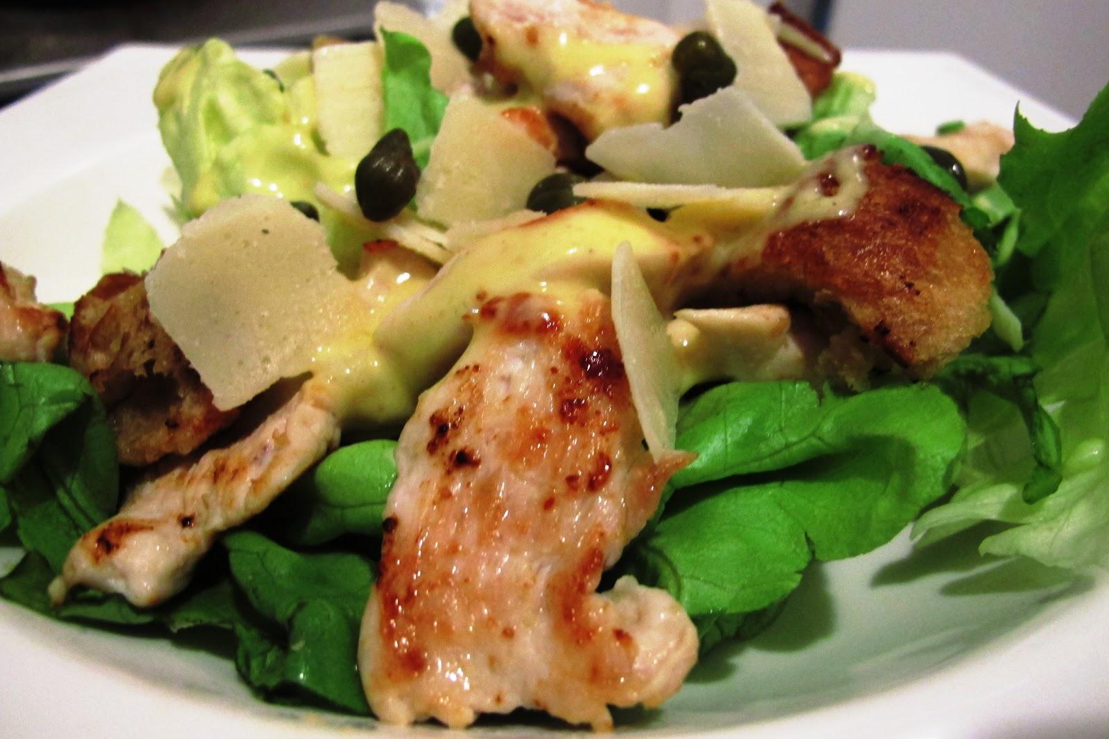 Les recettes de miss tartiff salade c sar au poulet grill - Recette salade cesar au poulet grille ...