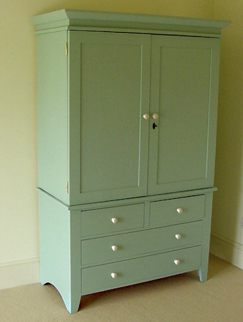 Farrow and Ball Powder Blue painted furniture