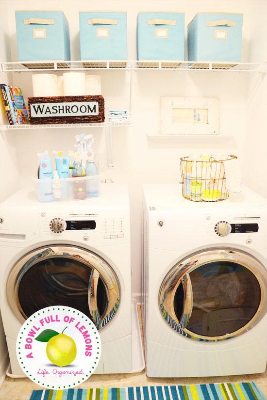 laundry room organization | a bowl full of lemons