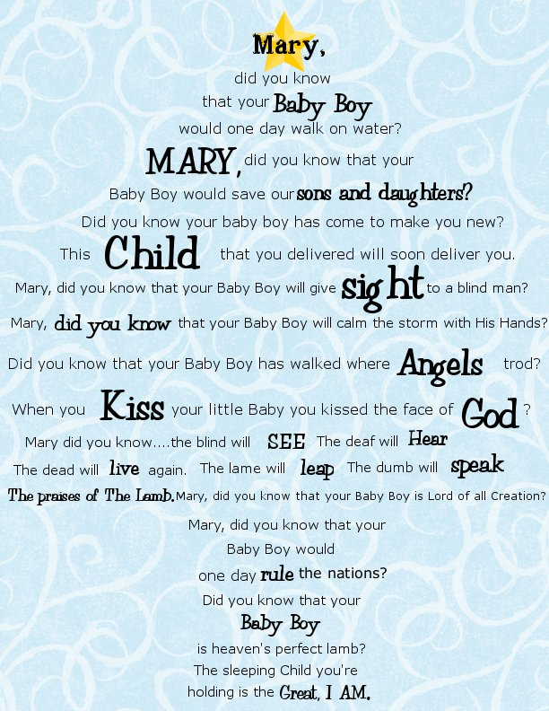 picture about Mary Did You Know Lyrics Printable referred to as Contemporary Track LYRICS FOR MARY DID Oneself Comprehend