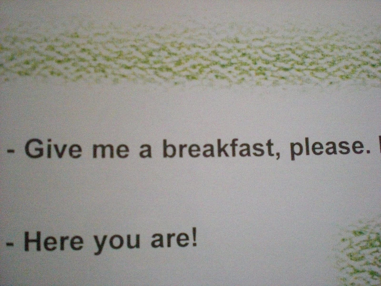 give online dating a breakfast