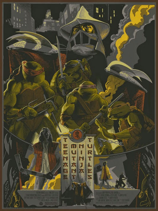 Teenage Mutant Ninja Turtles Screen Print by Rich Kelly