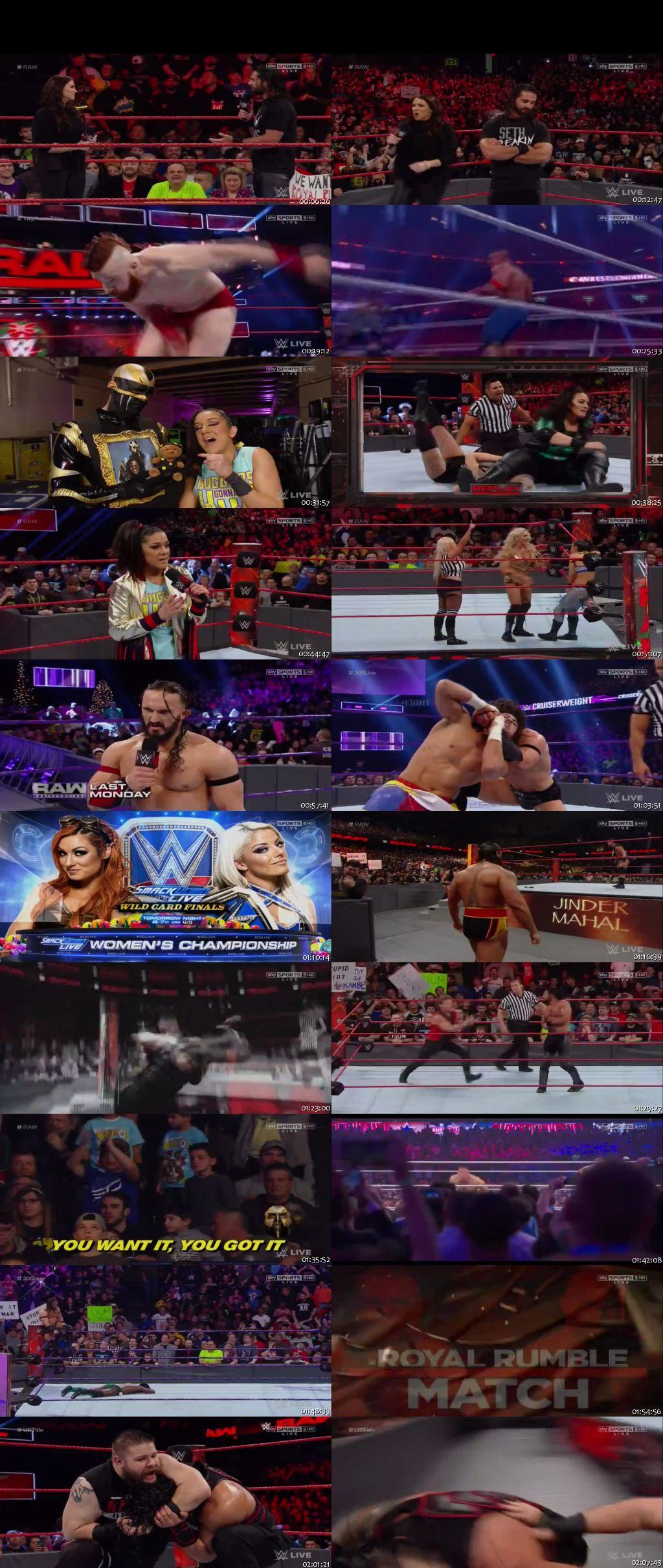 Screen Shot Of WWE Monday Night Raw 26th December 2016 HDTV 480P 300MB