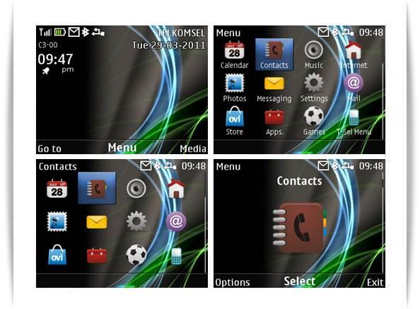 tattoo theme for Nokia C3-00 Nokia C3-00 themes,