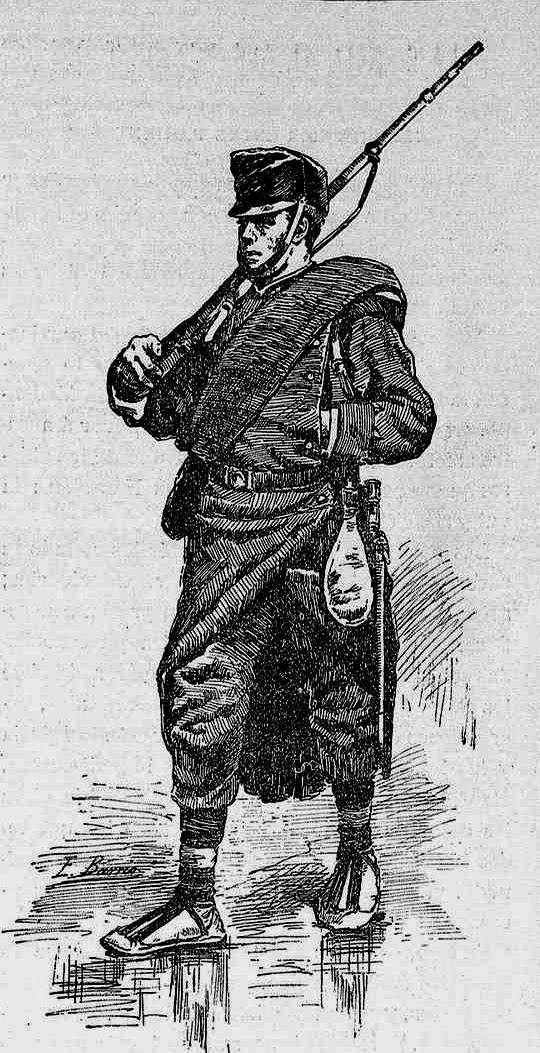 """Soldado español con uniforme anterior al """"rayadillo"""""""