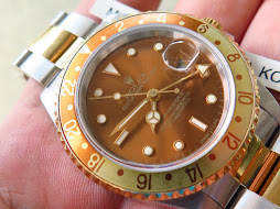 ROLEX GMT MASTER II TWO TONE ROOTBEER - ROLEX 16713 - SERIE S YEAR 1994 - MINTS CONDITION-VERY RARE