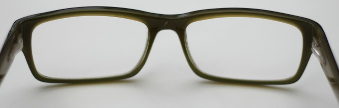 Green inside of the Justin Timberlake frames