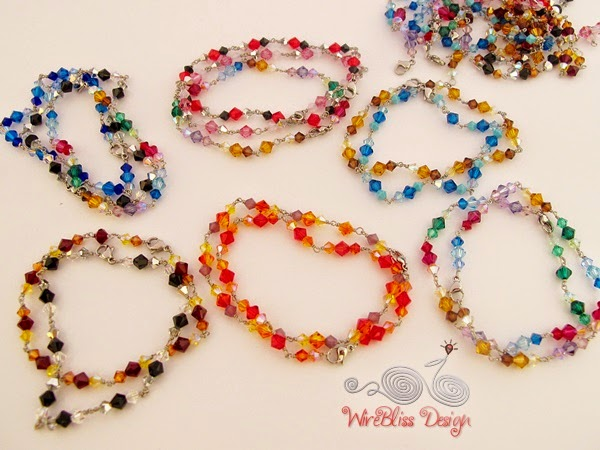 Swarovski Crystal Bracelet by WireBliss