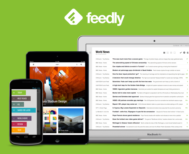 Agrega un botón de Feedly a tu blog.
