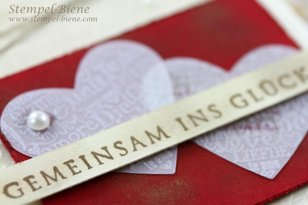 Stampin' Up Hochzeitskarte, Stampin Up En Francais, Von heute an, Language of Love, Match the Sketch, Stampin' Up Auslaufliste 2014, Stampin' Up Jahreskatalog 2014-2015, Stampin' Up Sammelbestellung