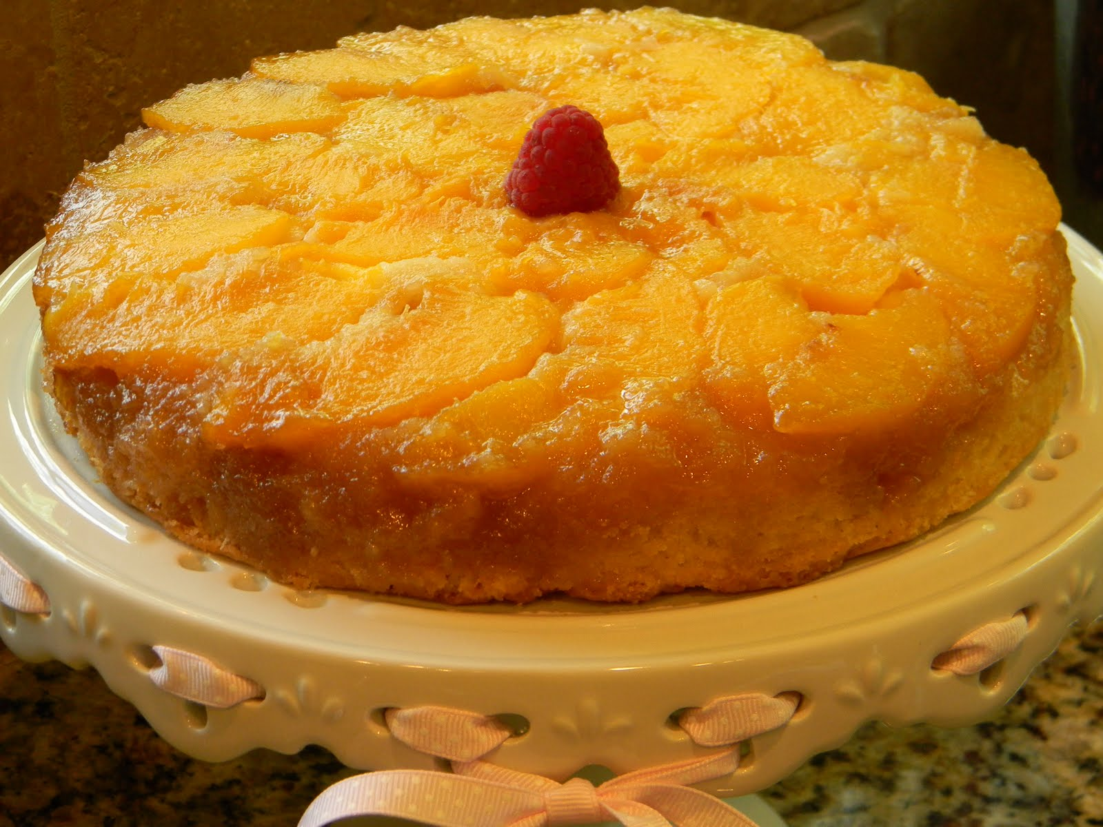 Cake Images Dow : Peach Upside Down Cake