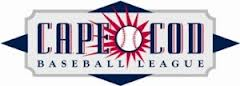 Red, white, and blue Cape league logo