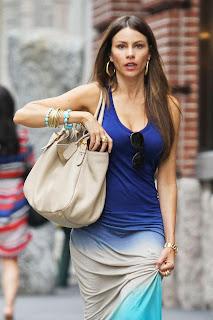 SOFIA VERGARA blue outfit
