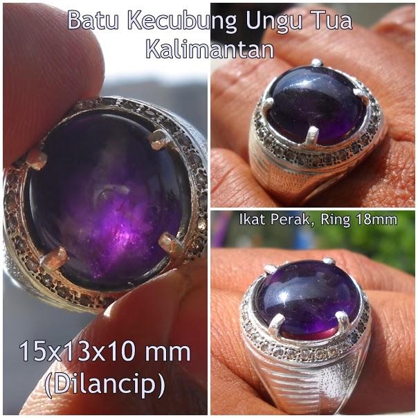 KCB36-SOLD- Kecubung Kalimantan - Ungu Terong... Antik Sekali !!!