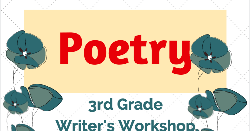 math worksheet : poetry unit for third graders  me and my third grade gang poetry  : Elements Of Poetry Worksheet 3rd Grade