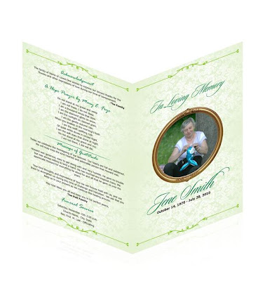 Custom Funeral program Tempaltes